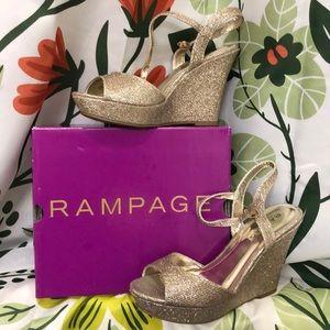 Rampage - Formal Dress Wedge - Blush Glitter - 9.5